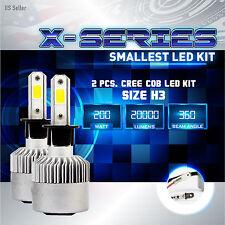 200W 20000LM CREE LED 6000K White Fog Light Conversion Kit Bulbs PAIR- H3