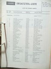 Ersatzteilliste für Grundig TK 147 Tonbandmasc,ORIGINAL