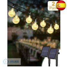 Guirnaldas Luces Exterior Solar [2 Pack], Kolpop 4.5M 30LED Cadena de Bola