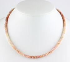 Andenopal Kette edelsteinkette facettiert Rondell Rosa Collier Farbverlauf 47 cm