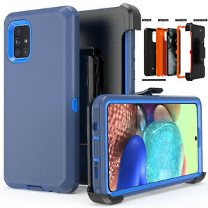 For Samsung Galaxy A71 5G Shockproof Heavy Duty Belt Clip Stand Phone Case Cover