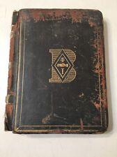Authentic 1870's Psi Upsilon Yale University  Ledger Secret Society  Pres. Taft