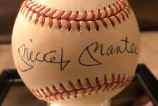 Mickey Mantle Signed Official American League Baseball New York Yankees HOF