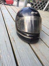 Vintage 80's GRANT Helmet Full Face L XL Black Road Race Cafe Racer