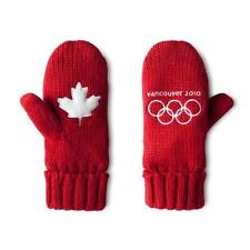 2010 VANCOUVER WINTER OLYMPICS TEAM CANADA RED MITTENS S/M Mitts Gloves 2018