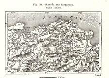 Santona and Santander. Spain. Sketch map 1885 old antique plan chart