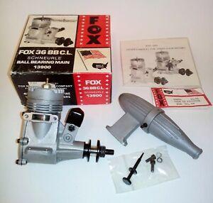 FOX 36 BB C.L. Schneurle Engine with Muffler  N.O.S.