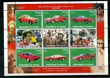 GUINEA 1998 CARS/FERRARI SHEET OF 9 STAMPS MNH