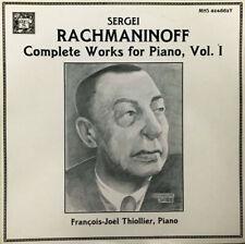 Sergei Rachmaninoff François-Joël Thiollier Complete Works For Piano Vinyl