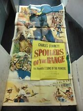 Charles Starrett Spoilers Of The Range Original 3-Sheet Movie Poster #N1316