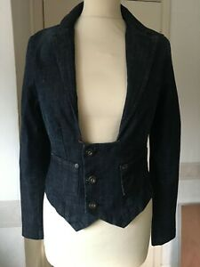 C&B fitted denim jacket S tailored