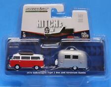 GREENLIGHT 1/64 Hitch & Tow V-DUB CLUB 1974 VW TYPE 2 BUS & AIRSTREAM BAMBI
