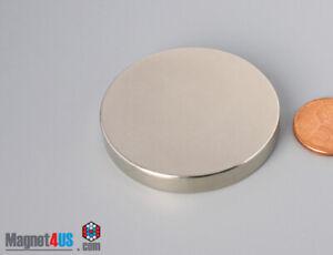 "44mm x 6mm  1 3/4"" x 1/4""  N45 Strong  Rare Earth Neodymium Disc Magnets"