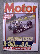 Motor (6 April 1985) Scimitar SS1 1600, Montego Turbo, Granada, Lotus 97T, Civic