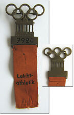 Participation Badge: Olympic Games Berlin1936  Athletics Pin Olympiad