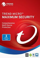 Trend Micro Maximum Security 3 PC 1 One Year 2020 Latest Version