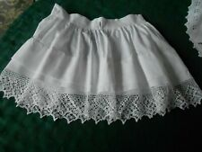 Wonderful White Cotton Child'S Half Slip With Fantastic Hand Crochet Trim C.1910