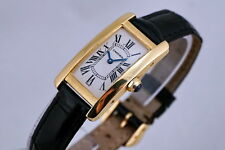 CARTIER 1710 TANK AMERICAINE 18K GOLD AUTHENTIC BEAUTIFUL LADY'S WATCH