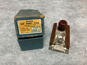 Record 2506S Side Rabbet Plane Rebat Not Stanley Boxed Woodworking Tool