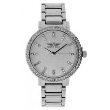 Silver Plated Band Quartz (Battery) Adult Round Watches