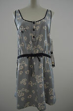 NWT $88 QSW Quiksilver SMALL S M Cotton Silk Animal Cutout Summer Dress Sundress