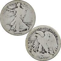 1916 Liberty Walking Half Dollar G Good 90% Silver 50c US Coin Collectible