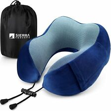 Sierra Concepts Travel Pillow Memory Foam- Airplane, Traveling, Car, Sleeping