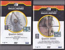 2 Dvd Serie del drama Rai QUATTRO DELITOS completa nuevo 1979