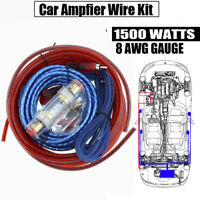 1500W 8 GA Car Audio Video Amplifier Installation Wiring Kit Complete Amp Cable