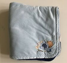Koala Baby Navy Blue Little All Star Sports Velour Blanket Baseball Football