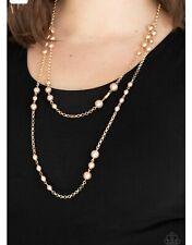 Paparazzi jewelry necklace Gold promenade  2 tier pearl 💜