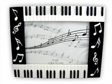 Piano Photo Frame - Large Rectangular - Music Themed Gift _ Musical Photo Frame