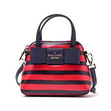 #CRZYHeart Kate Spade Bag PXRU6268 Julia Street Stripe Mini Maise Cherry Liqeur