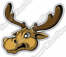 Elk Deer Moose Racks Hunting Hunter Cartoon Car Bumper Vinyl Sticker Decal 4.6""