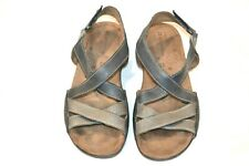 Women's Blue/Gray Leather Naturalizer Strappy Sandals 9N