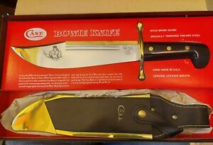 CASE XX SS USA 1836 BOWIE HUNTER SURVIVAL KNIFE WITH SCABBARD IN BOX