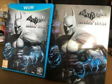 Batman Arkham City Armoured Edition Steelbook Wii U Game Used Complete Free P&P