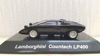 1/64 CM's LAMBORGHINI COUNTACH LP400 BLACK w/ Detailed Engine diecast car model