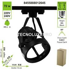 Foco carril E27 negro tecnolxeuro