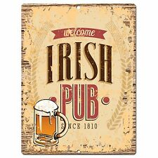 PP0826 IRISH PUB Parking Plate Chic Sign Home Bar Pub Cafe Restaurant Decor Gift