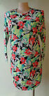 New Rosey Fashion bold floral print floral dress long sleeve size 14 NWT
