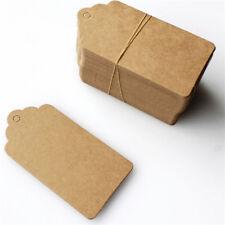 100xTag Kraftpapier Etiketten Packpapier Anhänger-Geschenkanhän Papieretiketten&