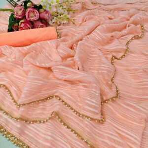 Bollywood Stylish Saree Wear Indian Pakistani Silk Wedding Designer Sari AK-02