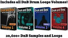 DnB COMPLETE Mega Drums Bundle WAV Samples Loops Ableton Drum and Bass Drums