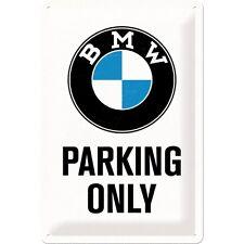 BMW STATIONNEMENT SUELEMENT Panneau en tôle 20x30 cm - Moto Signe Motard 22241