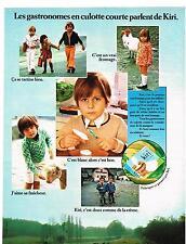 publicité advertising   1970  le fromage pour enfants Kiri