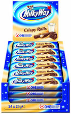 Milky Way crujiente Roll barras de chocolate: Caja Completa - 24 X 25g Barras