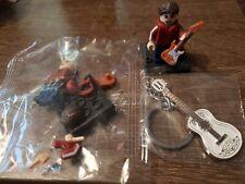 2x Disney Coco Miguel mini figure building blocks Guitar Keychain Keyring metal