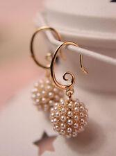 NEW Fashion Jewellery Donna Lady elegante Perla Beads Orecchio Orecchini A Lobo