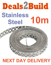 Engineers Stainless Steel Metal Punched Perforated Strip Strap 10m FREE DELIVERY